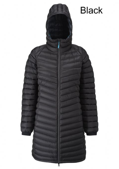 Rab Womens Microlight Parka / Down Insulation / Long Coat / Warm